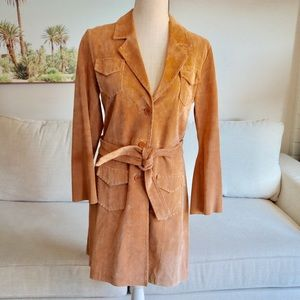 Suzanne Aimee's leather/ suede trench coat
